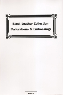 Black Leather Collection / Perforations & Embossings
