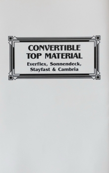 Convertible Top Material Everflex,Sounendeck,Stayfast &Cambria