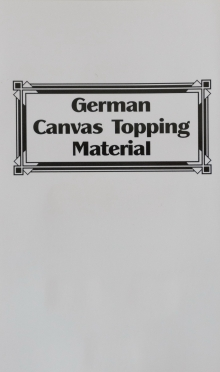 German Canvas Topping Material