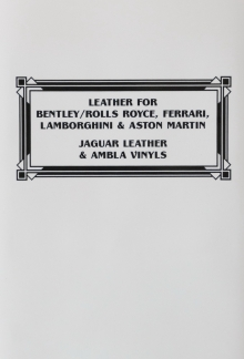 Leather for Bentley Rolls Royce, Ferrari, Lamborghini & Aston Martin