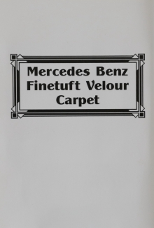 Mercedes Benz  Finetuft Velour Carpet