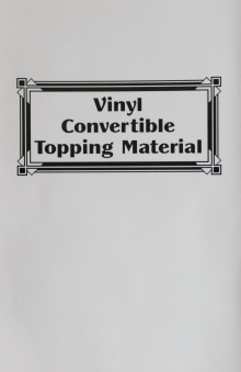 Vinyl Convertible Topping Material